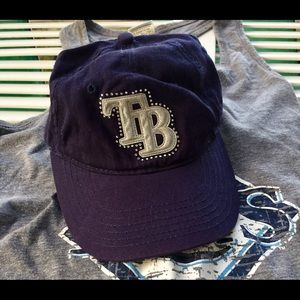 Tampa Bay Rays Bling Youth Hat & Tank Top Genuine